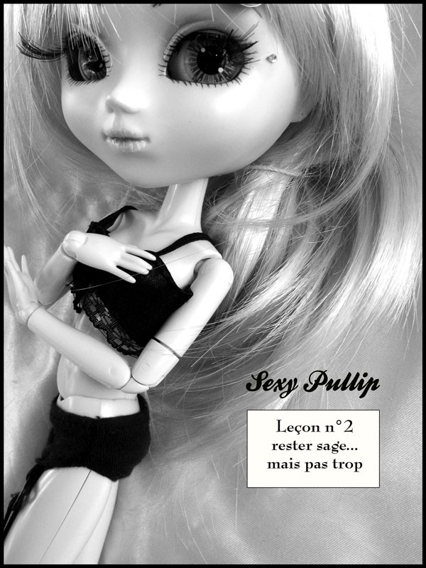 pullip sexy photo noir & blanc